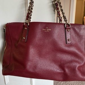 Kate Spade soft leather expandable tote.